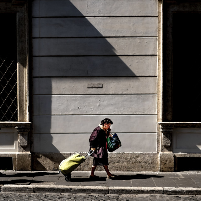 """Trastevere Rome street scene"" stock image"