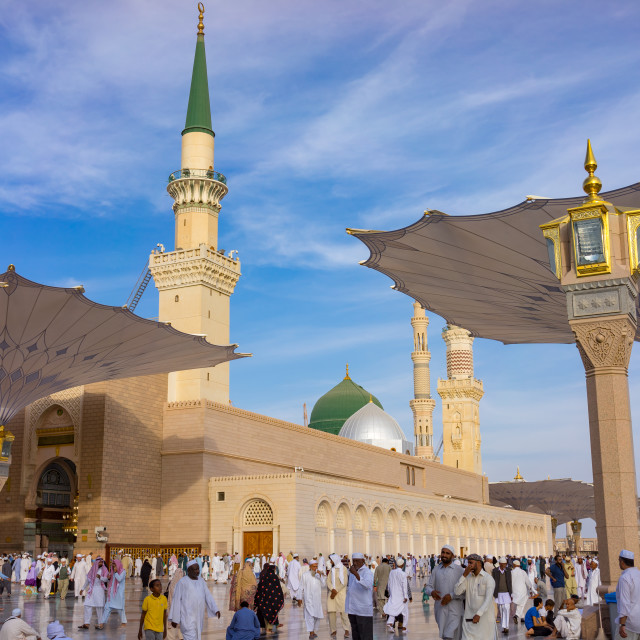 """""""External view of Mosque Al-Nabawi"""" stock image"""