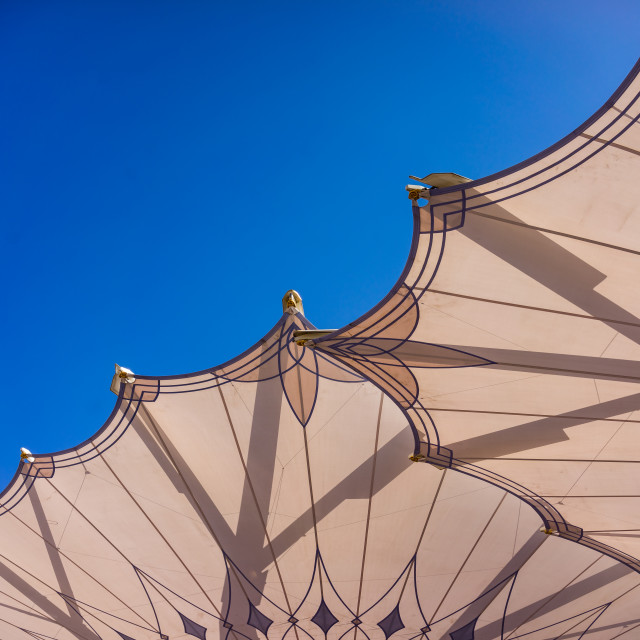 """""""Big umbrellas of Nabawi Mosque"""" stock image"""