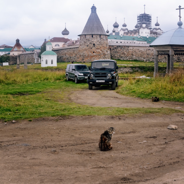 """Solovki Monastery (Russia) seen from a Country Road"" stock image"