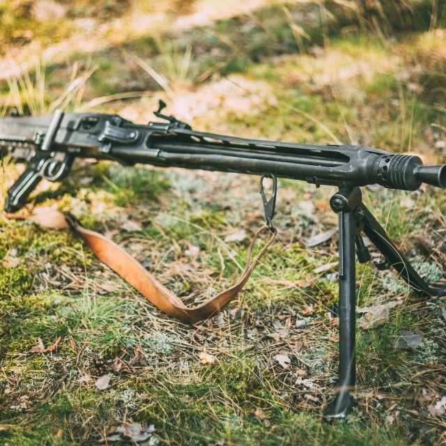 """German Machine Gun Of World War II"" stock image"