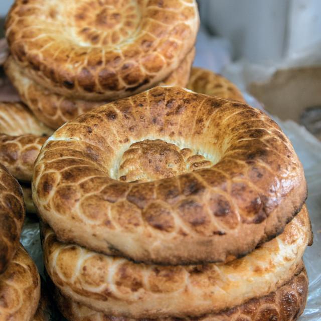 """Kyrgyz Bread"" stock image"