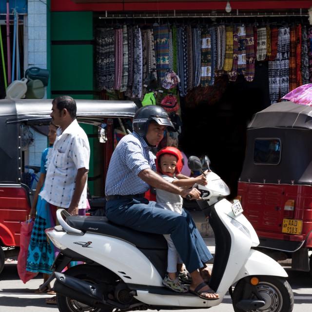 """Sri Lanka scooter"" stock image"