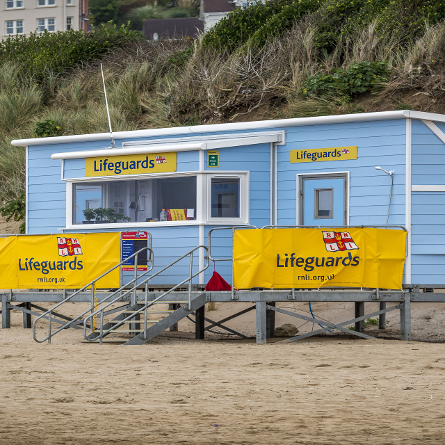 """Life Guard station"" stock image"