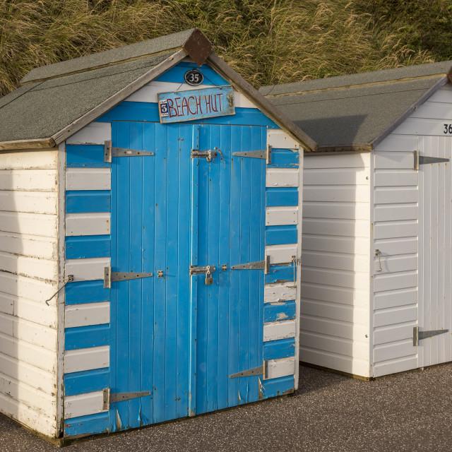 """Beach Hut 35"" stock image"