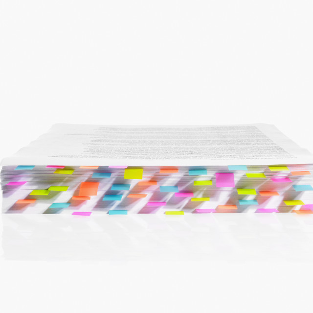 """""""Studio shot of book edge with index cards"""" stock image"""