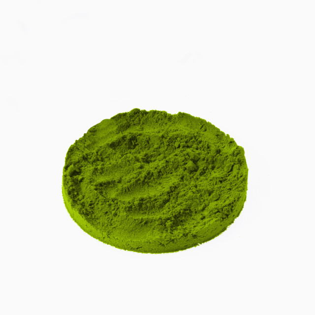 """Studio shot of Ground Wasabi Powder on white background"" stock image"