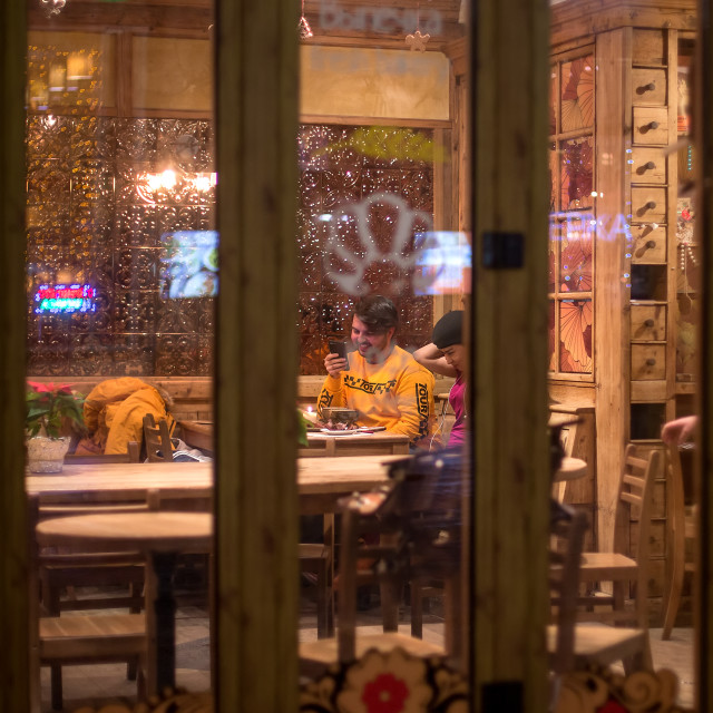 """""""Night cafe"""" stock image"""