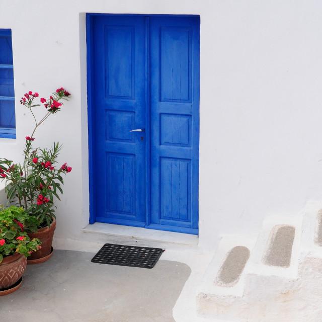 """Traditional house at Oia , santorini"" stock image"
