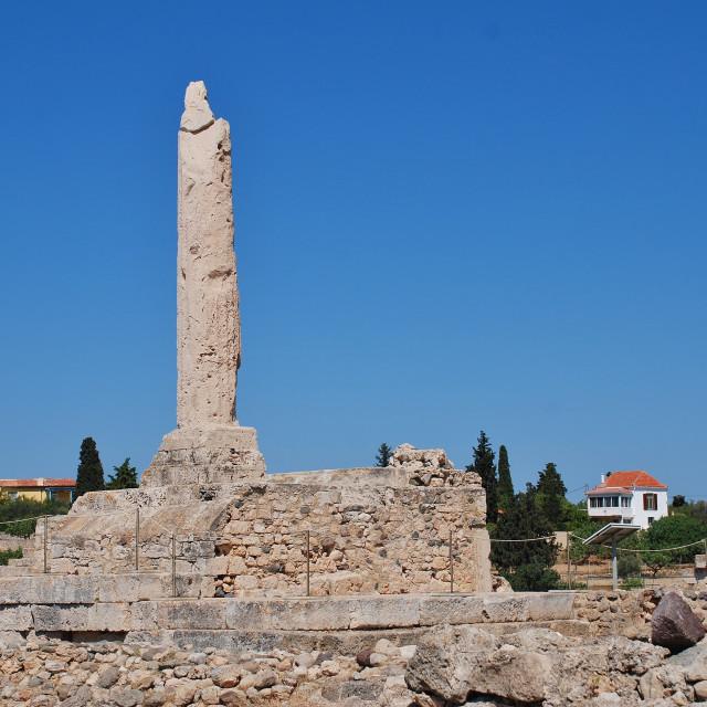 """""""Temple of Apollo, Aegina"""" stock image"""