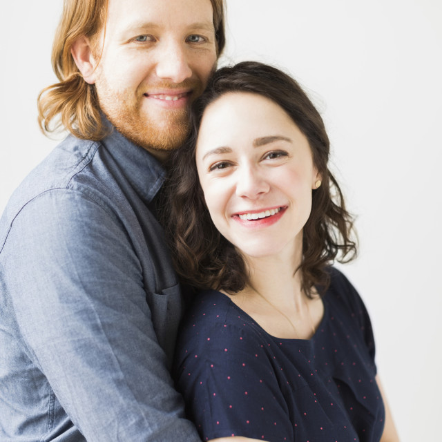 """Portrait of smiling couple"" stock image"