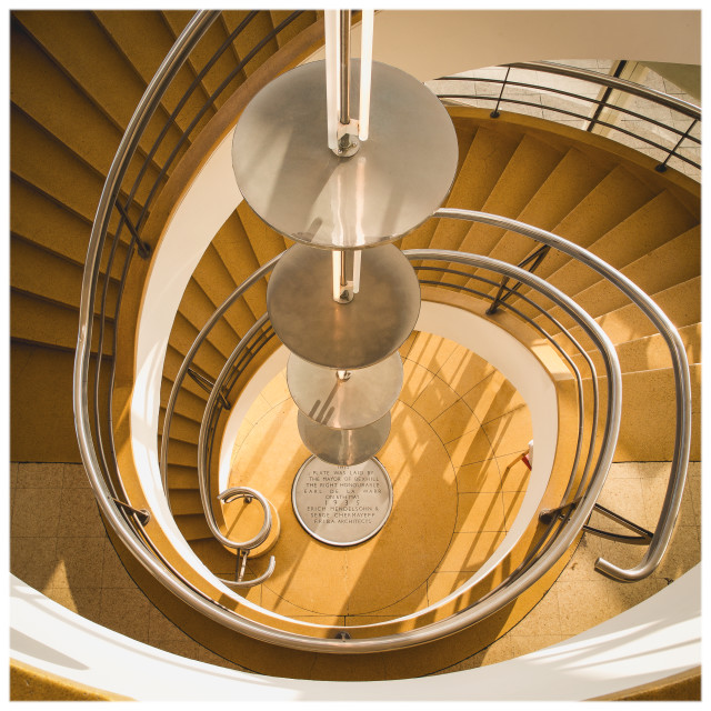 """De La Warr Staircase"" stock image"