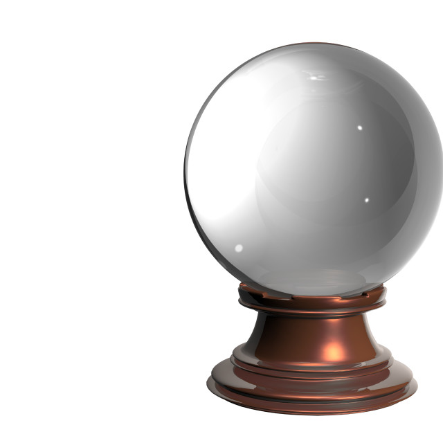 """""""Crystal ball on white background"""" stock image"""