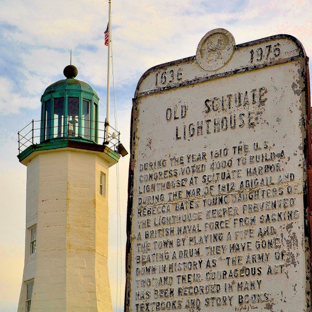 """""""Scituate MA lighthouse"""" stock image"""