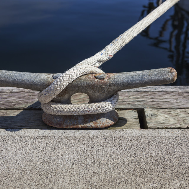 """""""Cleat with rope"""" stock image"""