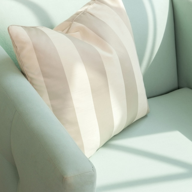 """Pillow on armchair"" stock image"