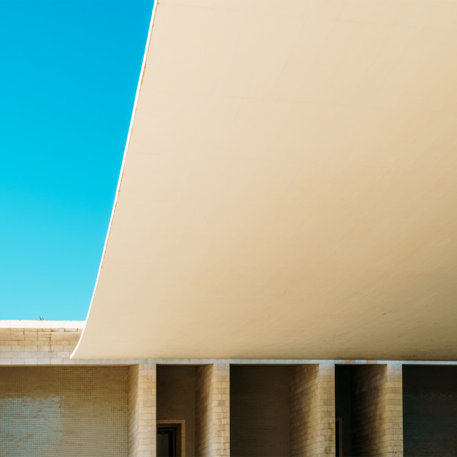 """Abstract Architecture In Lisbon, Portugal"" stock image"