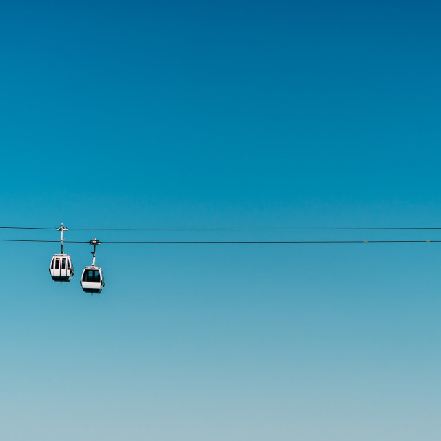 """Cable Cars In Lisbon, Portugal"" stock image"