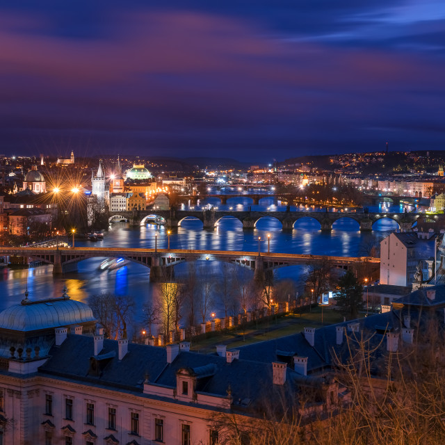"""""""Prague at night"""" stock image"""