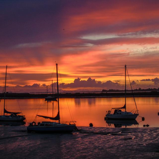 """""""Heybridge Basin Sunrise"""" stock image"""