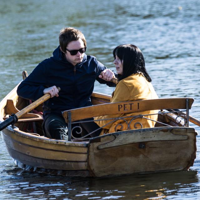 """Dedham Rowing Boats"" stock image"