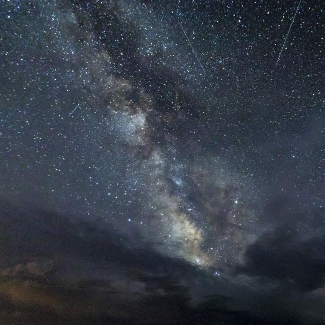 """Perseids Meteor Shower"" stock image"