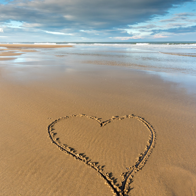 """I love Northumberland"" stock image"