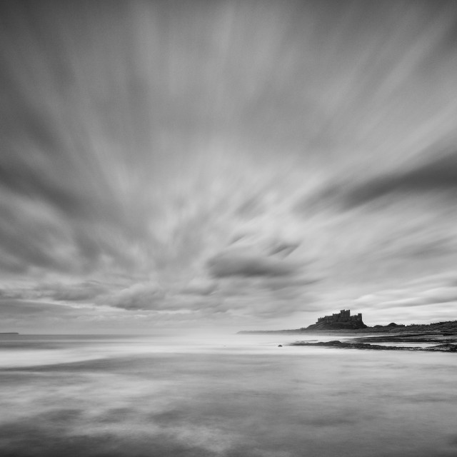 """Bamburgh Castle Sky"" stock image"