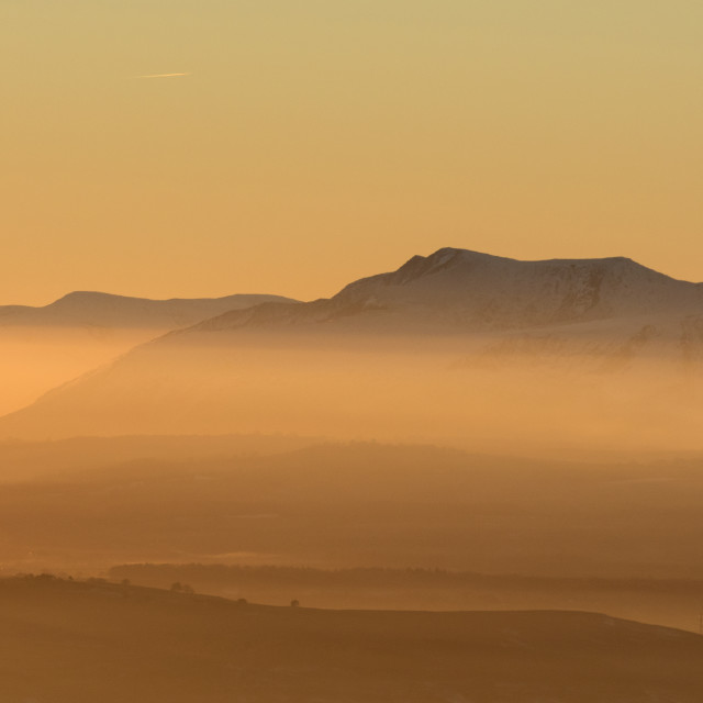 """Blencathra Sunset"" stock image"