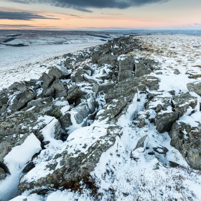 """Snowy Moors"" stock image"