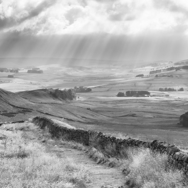 """Hadrian'S Wall Panorama"" stock image"