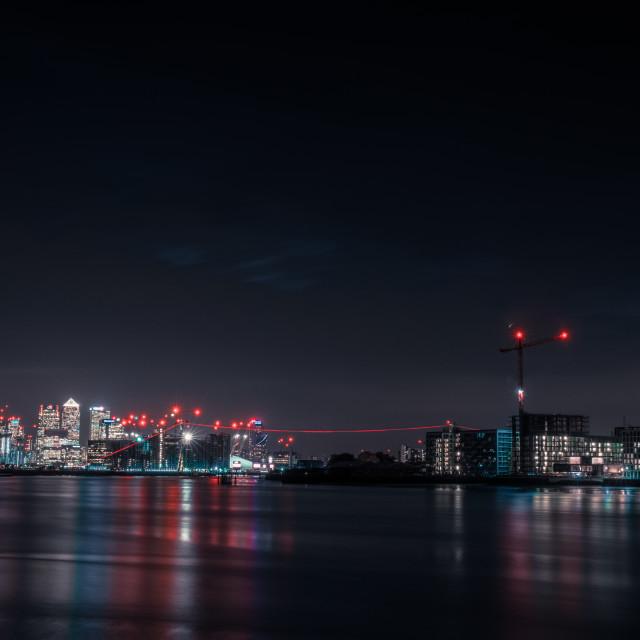 """Bright City Lights"" stock image"
