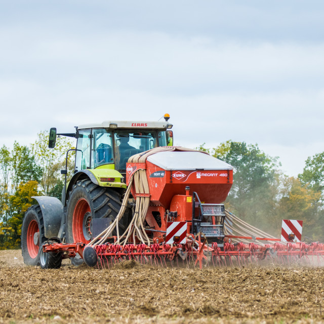 """""""Ploughing The Fields"""" stock image"""