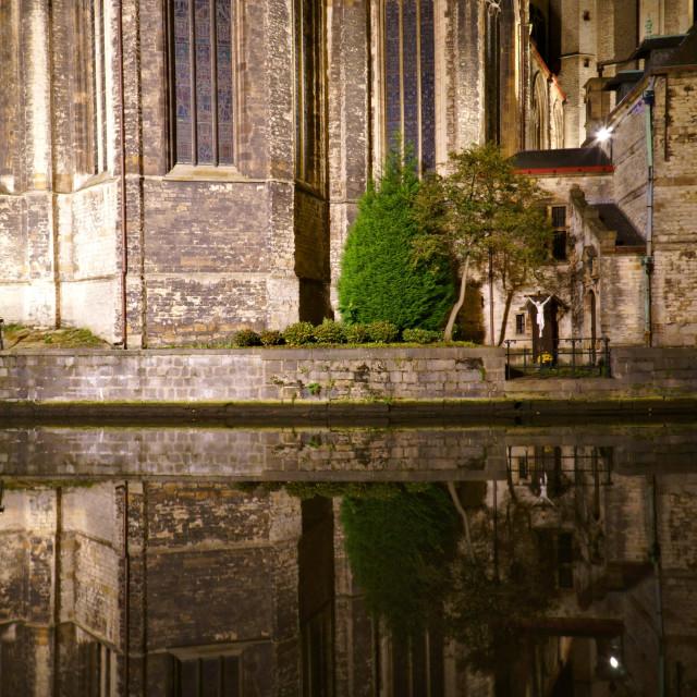 """St Michael's Church, Gent"" stock image"