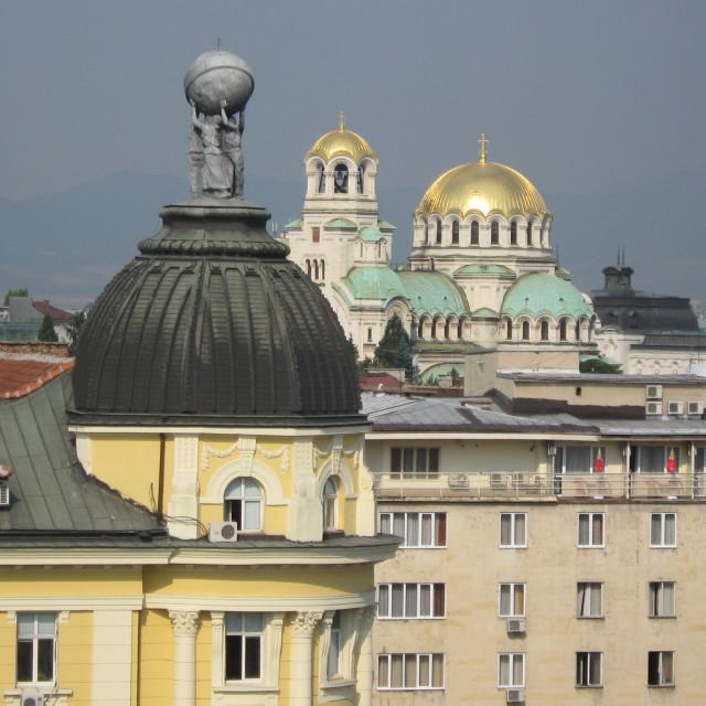 """Sofia Rooftops"" stock image"
