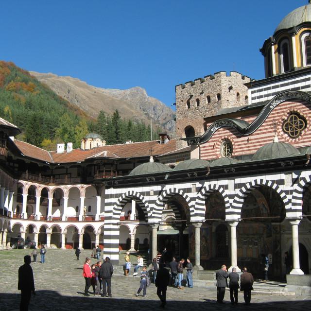 """Rila Monastery Bulgaria"" stock image"