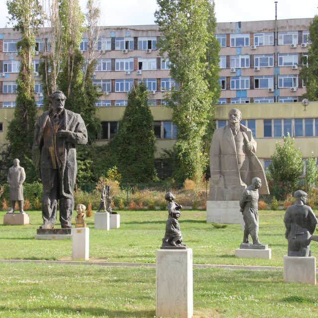 """Sofia: Garden of Museum of Socialist Art"" stock image"