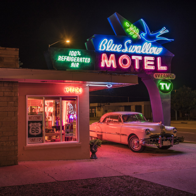 """""""The Blue Swallow Motel"""" stock image"""