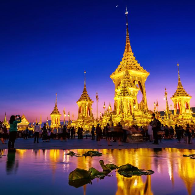 """""""The Royal Cremation King Rama 9"""" stock image"""