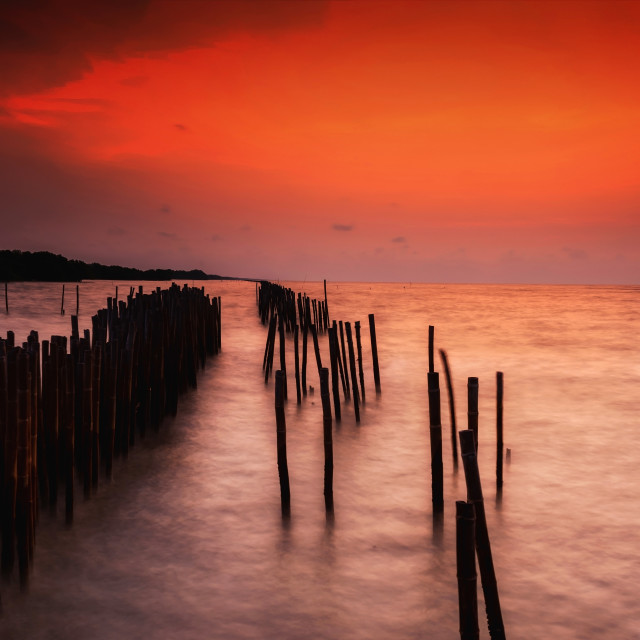 """""""seascape at dawn in Thailand"""" stock image"""