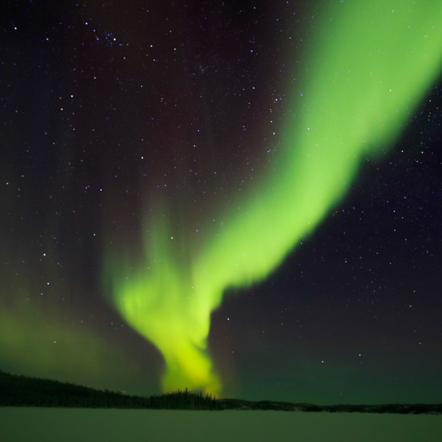 """Prelude Lake Aurora"" stock image"
