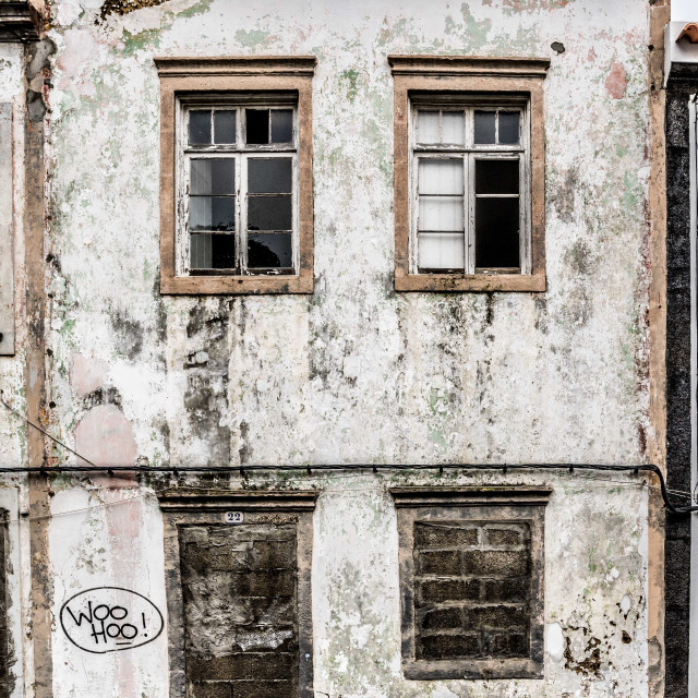 """Abandoned in the Azores"" stock image"