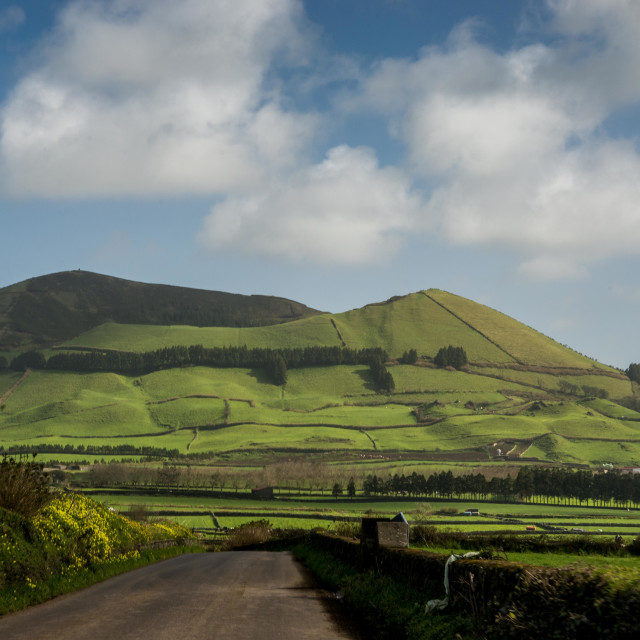 """On the road in Sao Miguel"" stock image"