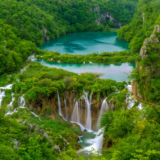 """Waterfalls in Plitvice National Park, Croatia"" stock image"