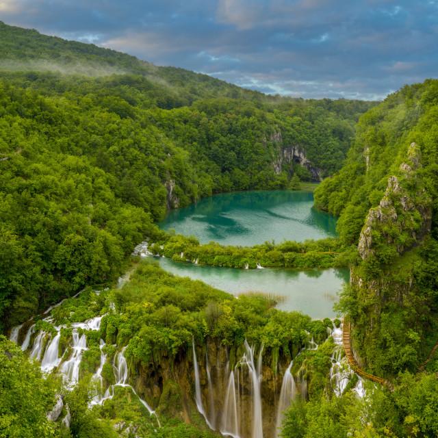 """Waterfalls in Plitvice National Park, Croatia"" stock image"