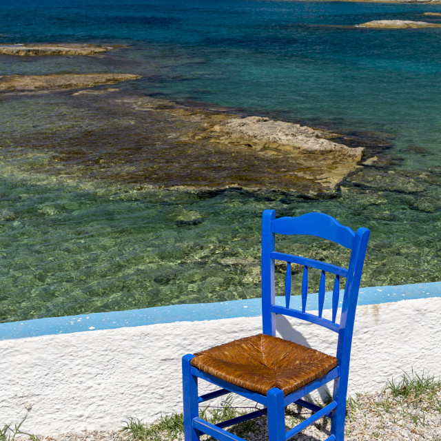 """""""One Greek chair"""" stock image"""