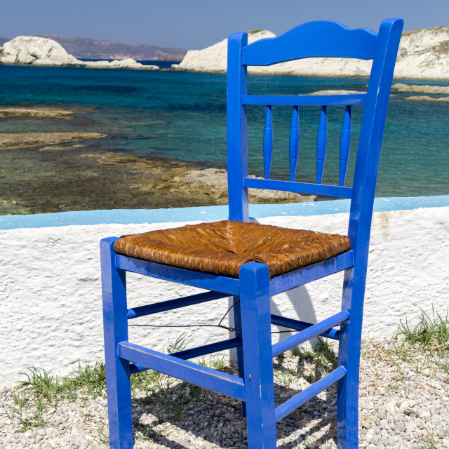 """""""Traditional Greek chair"""" stock image"""
