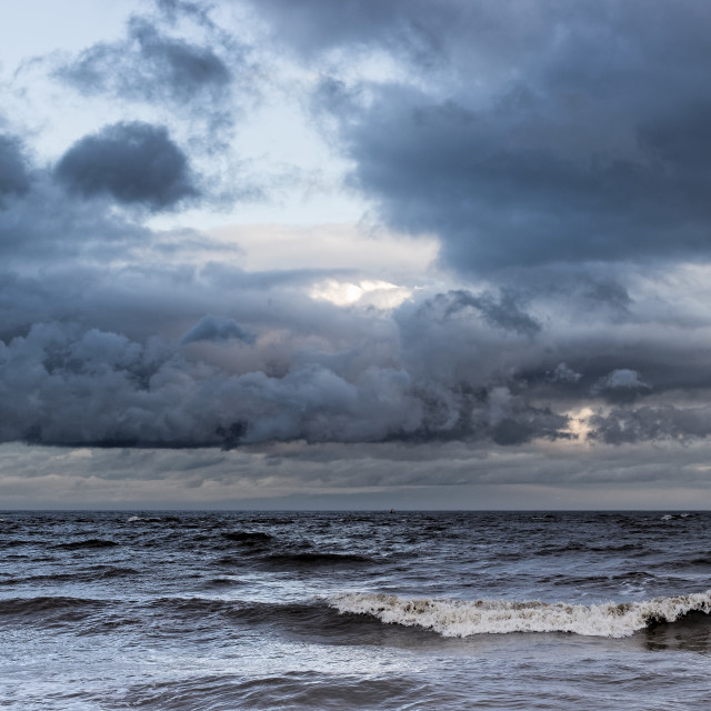 """Felixstowe winter seascape"" stock image"