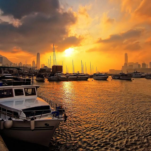 """Causeway Bay Pier, Hong Kong"" stock image"