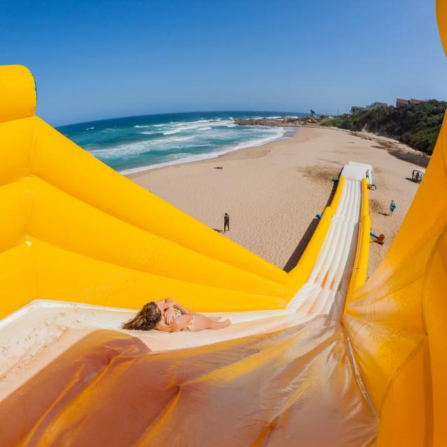 """Beach Boy Tall High Water Slide"" stock image"